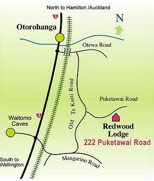 Location map of redwood Pet Lodge